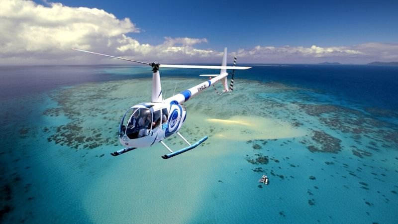 cairns great barrier reef helicopter tours