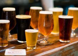 beers on table tasting