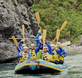 bucks party ideas Christchurch rafting
