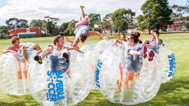 sydney bucks bubble soccer activity