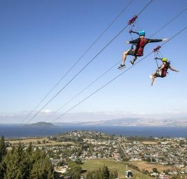 adventure park in the sky in rotorua wicked bucks