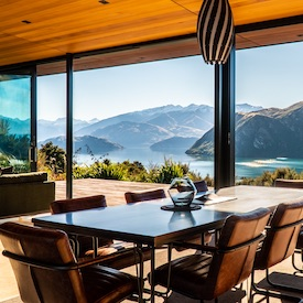 stag party accommodation with views of Lake Wanaka