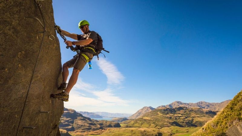 cable climb in wanaka new zealand